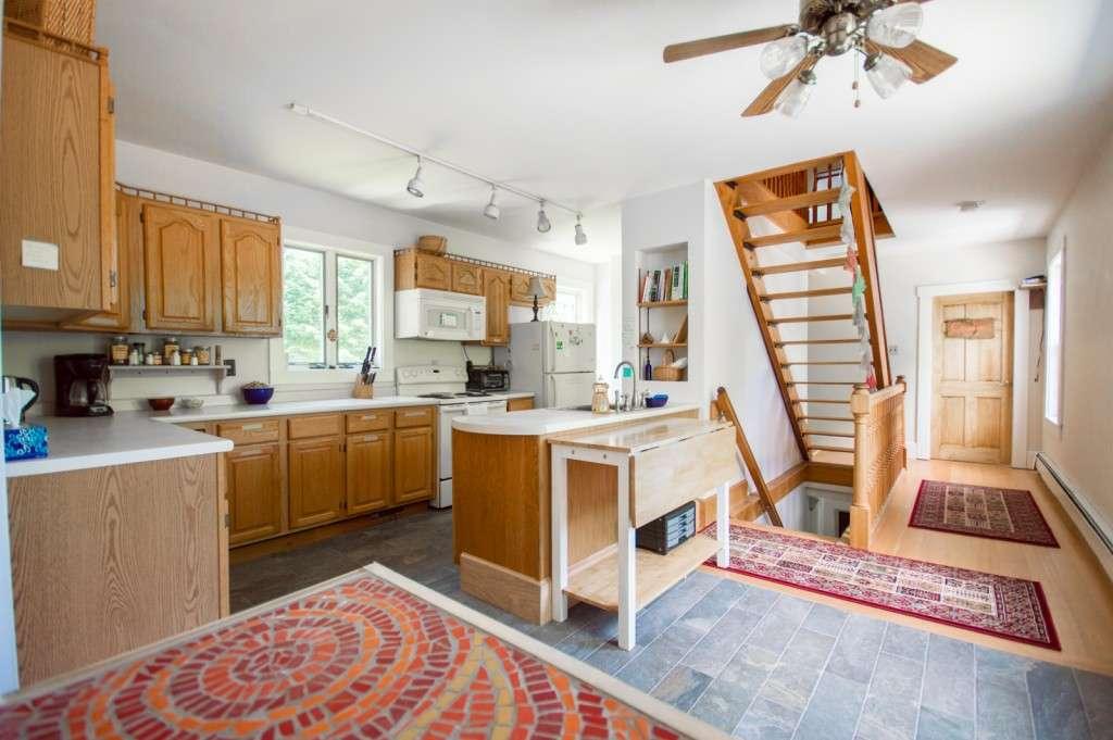 The main kitchen, The Notch Hostel, White Mountains, NH