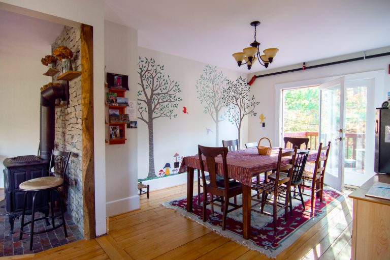 The dining room, The Notch Hostel, White Mountains, NH