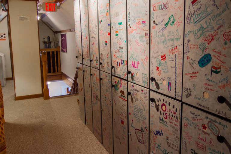 Lockers at The Notch Hostel, White Mountains, NH