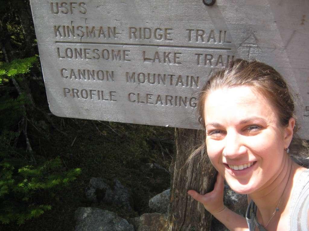 Kinsman Ridge Trail sign
