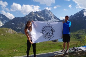 Notch Hostel owners Justin and Serena Walsh on their honeymoon in the Alps