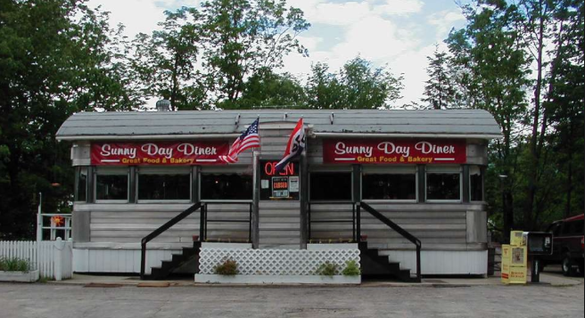 Sunny Day Diner is located near the Notch Hostel in the White Mountains, NH