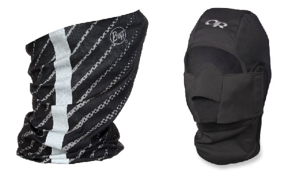 Buff (left) versus balaclava (right)