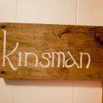 Kinsman Room sign, The Notch Hostel, White Mountains, NH
