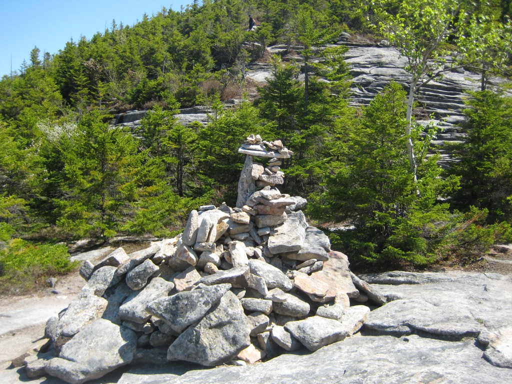 The Welch summit cairn.