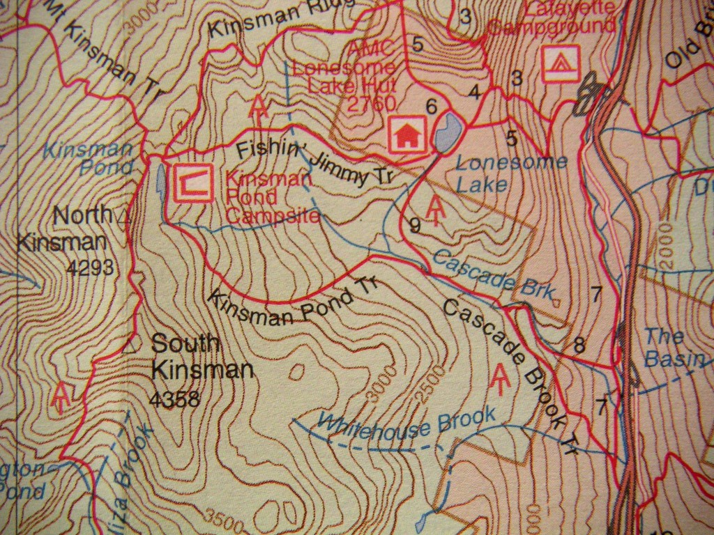 Lonesome Lake trail map