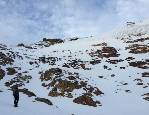 Nothing but 2500' of snow, rock, and ice separate us from the summit.