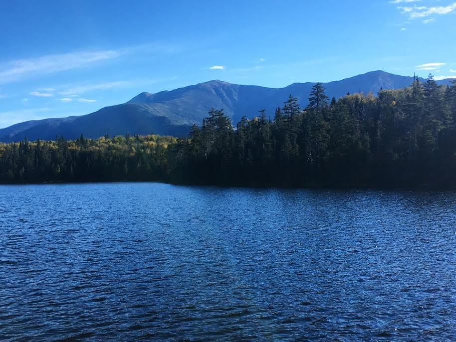 View from Lonesome Lake in the White Mountains