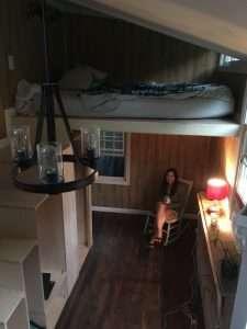 Inside the Notch Hostel Tiny House