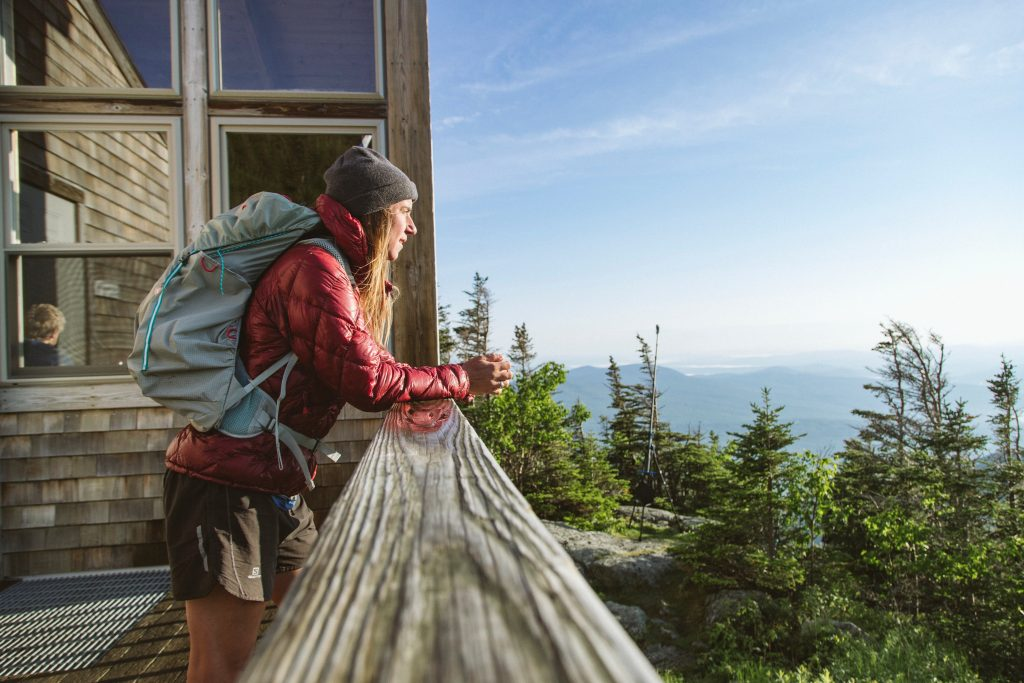 Caitlin enjoying the view from Crag Camp this past Spring. Photo provided by Caitlin Quinn.